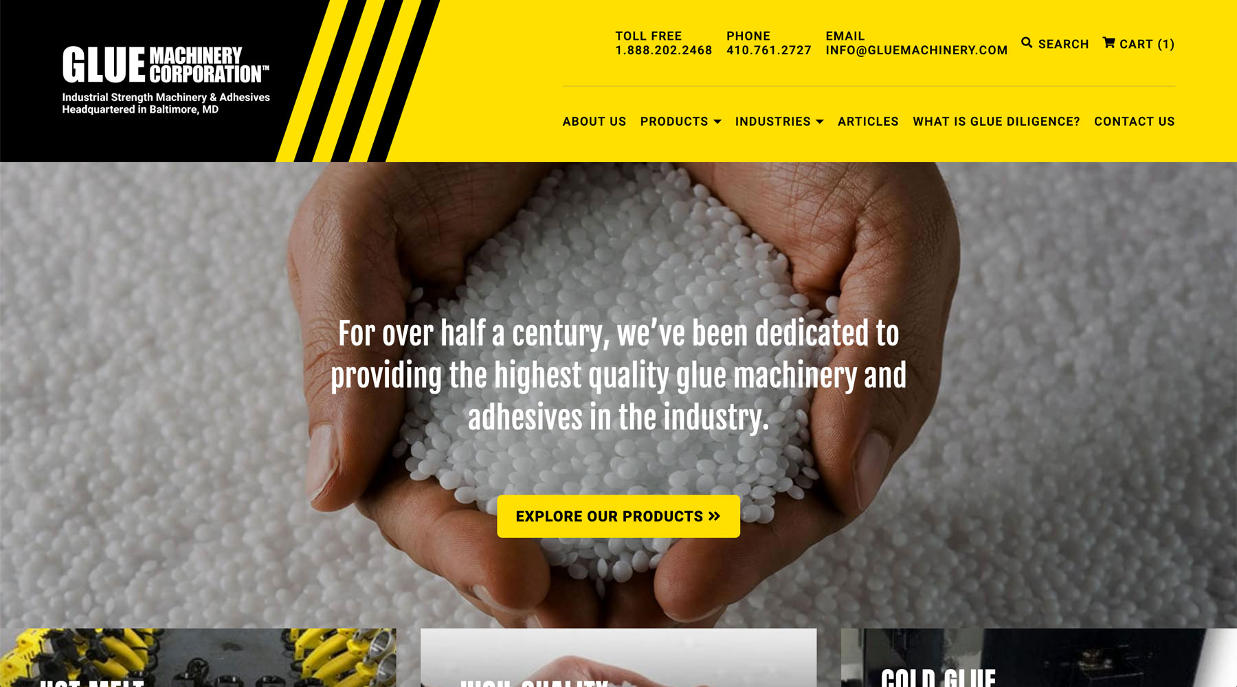 Glue Machinery Homepage